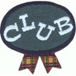 1 3/8'' by 1 3/8'' CLUB Applique-0