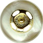 "13/16"" - Pearl with Gold Center - Shank Button-0"