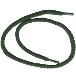 "18"" Round Braided Shoe String Hunter Green-0"