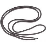 "50"" Round Braided Shoe String Grey-0"