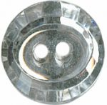 "5/8"" - Clear/Silver - 2 Hole Button-0"
