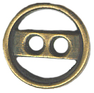 "7/16"" - Bronze - 2 Hole Metal Button-0"