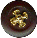 "9/16"" Black Shank Button with Gold Center-0"