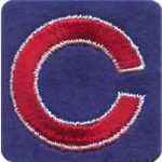 "2"" - 5 cm Square Blue with Red C Patch-0"