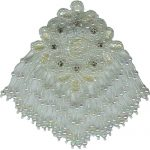 "3 7/8"" by 6"" Iridescent Beaded/Sequin Fringed Applique-0"