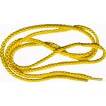 "45"" Bright Yellow Round Braided Shoe Lace/String-0"
