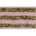 "7/8"" Pink/Gold Wired Ribbon-0"