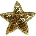 "1 1/4"" - 3.2 cm Gold Beaded/Sequin Star Appliques-0"