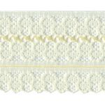 "1 5/8"" Soft Yellow Lace Trim-0"