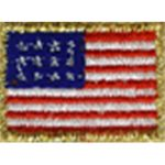 "7/8"" by 5/8"" Iron On Flag Applique-0"