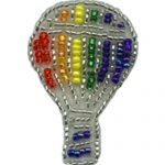 "1 1/4"" by 2"" Beaded Hot Air Balloon Applique-0"