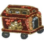 "3 7/8"" by 2 7/8"" Beaded/Sequin Carnival Wagon Appliques-0"