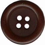 "3/4"" - Brown - 4 Hole Button-0"