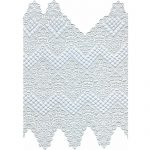 "17 1/2"" by 15/ 1/2"" White Venice Lace Piece-0"