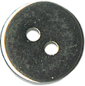 "1/2"" - Silver Metal - 2 Hole Button-0"