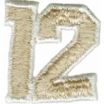 "1 3/8"" by 1 7/16"" Iron On Number 12 Applique-0"
