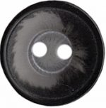 "Black/Grey 2 Hole Button 5/8""-0"