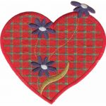 "4 1/2"" by 4 1/4"" Iron On Heart Applique-0"