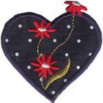 "2 1/4"" by 2 3/8"" Iron On Heart Applique-0"