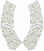 "10"" by 3 1/2"" Ivory Venice Collar Set L/R-0"