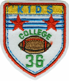 2 1/4'' by 2'' Iron On Kids College Applique-0