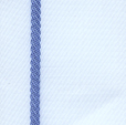 White/Blue - 4 yard Pieces Wrights Blanket Binding-0
