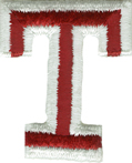 2'' by 1 5/8'' Iron On Letter T Applique-0