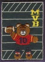 2 3/4'' by 3 3/4'' Iron On Patch FootBall Bear Applique-0