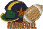 2 3/8'' by 1 1/2'' Iron On FootBall Applique-0