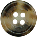 9/16'' - 4 Hole - Brown Marbled Button-0