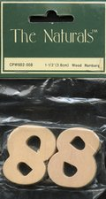 "1 1/2"" - 3.8cm - Wooden Numbers - 2 per package - 10 Numbers-0"