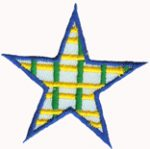 2 1/8'' - 5.4 cm - Iron On Star Applique-0
