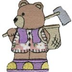 "2 7/8"" by 2 3/4"" Iron On Bear Applique-0"