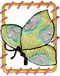 1 3/4'' by 2 1/8'' Iron On Yellow Butterfly Applique-0