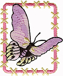1 3/4'' by 2 1/8'' Iron On Butterfly Applique-0