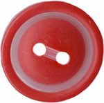 13/16'' - Red 2 Hole Button-0