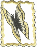 1 5/8'' by 2 1/8'' Metallic Butterfly Applique-0