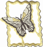 1 7/8'' by 2 1/8'' Metallic Butterfly Applique-0