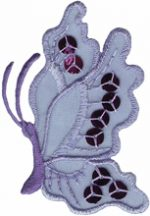 3'' by 2'' Lavender Organza Butterfly with Sequins Applique-0
