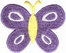 1 7/8'' by 1 1/2'' Iron On Butterfly Applique-0