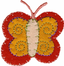 1 3/4'' by 1 3/4'' Iron On Butterfly Applique-0
