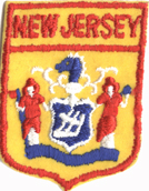 1 3/4'' by 2 3/8'' New Jersey Patch Applique-0