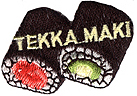 1 1/2'' by 1 5/8'' TEKKA MAKI Iron On Sushi Roll Applique-0
