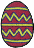 1 1/2'' by 2 1/4'' Iron On Easter Egg Applique-0