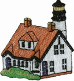 2 1/4'' by 2 1/2'' Lighthouse Applique-0