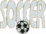 2 3/4'' by 1 5/8'' SOCCER Applique-0