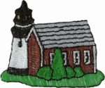 2 3/8'' by 2'' Lighthouse Applique-0