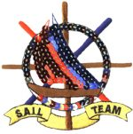 3 1/2'' by 3 1/2'' Sequined Sail Team Applique-0