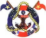 3'' by 2 3/8'' Sequin Anchor Nautical Life Ring Applique-0