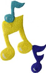 5 5/8'' by 2 3/4'' Musical Note Applique-0